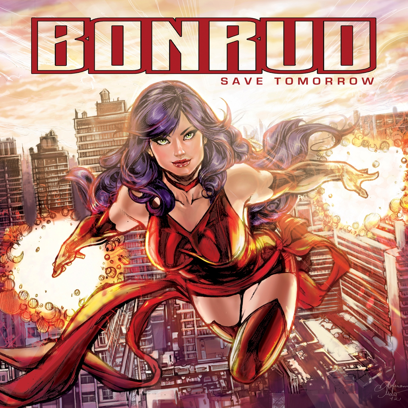 Save Tomorrow album artwork drawn by Marvel and DC Comics artist, Adriana Melo!